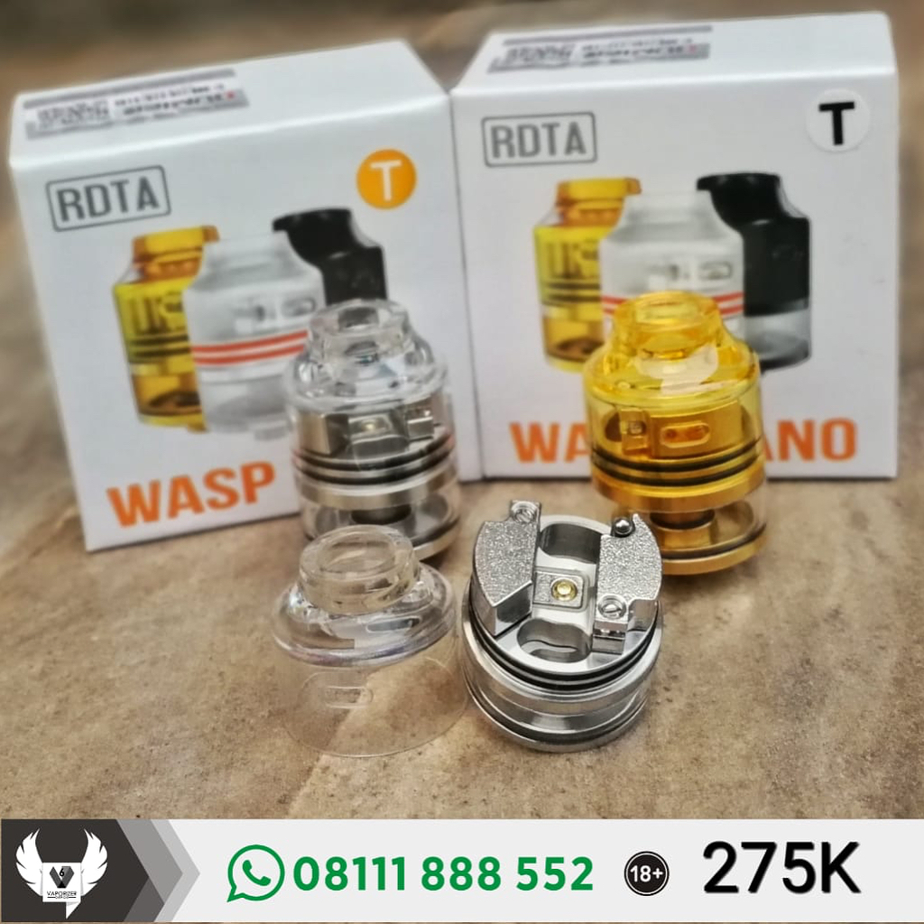 Oumier Wasp Nano Rdta 22mm Clear Cap Authentictoko Vaporizer Di Authentic Rda By